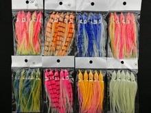 5Pcs/set 11cm Luminous fishing Lure Sea Fishing Squid Jigs Artificial 9 Colors Soft Bait
