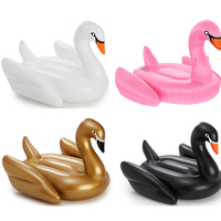 190cm 75inch Giant Pool Floats Inflatable White/Black/Golden Swan Swimming Floating Adults Water Toys Fun Mattress Boia Piscina