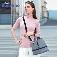Sunveno dinosaur thermal Insulation Bag keep fresh Baby Feeding Bottle Cooler Bag lunch Bag baby Food Storage thermos Bags
