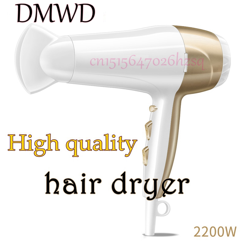 DMWD High Qualty Hair Dryer High-Power Salon Barber Shop Household  Student Dormitory Mute Adjustable Hot and Cold Air men s leisure bag bag wax canvas with crazy horse luxury cowboy oil skin leather bags satchel bag retro and waterproof