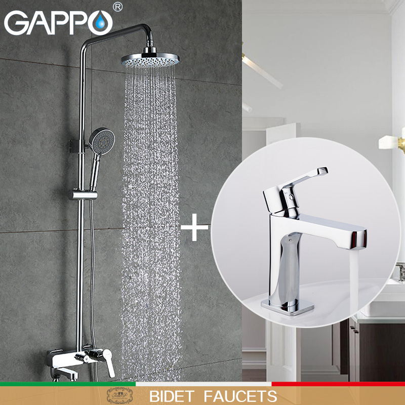 GAPPO Bidet Faucets Shower Faucets bath tub taps tub faucet waterfall basin faucets water tap mixer Sanitary Ware Suite