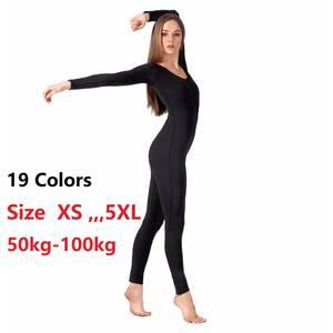 994292aaa3 speerise Adult Black Long Sleeve Bodysuit Women Dance wear