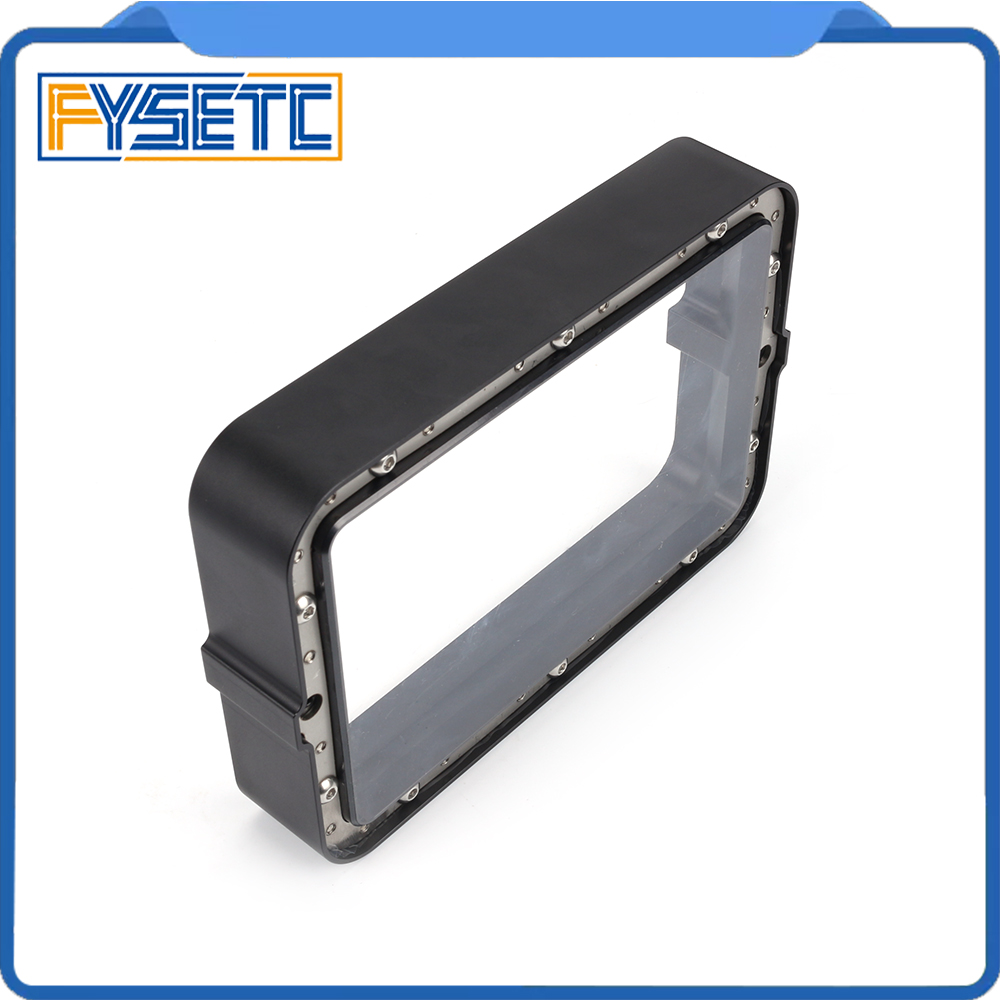 Material Rack negro 178*120mm con 5 uds. FEP Film para DLP SLA wangao D7 3D impresora de resina de aluminio anodizado Vat anillo de acero - 3