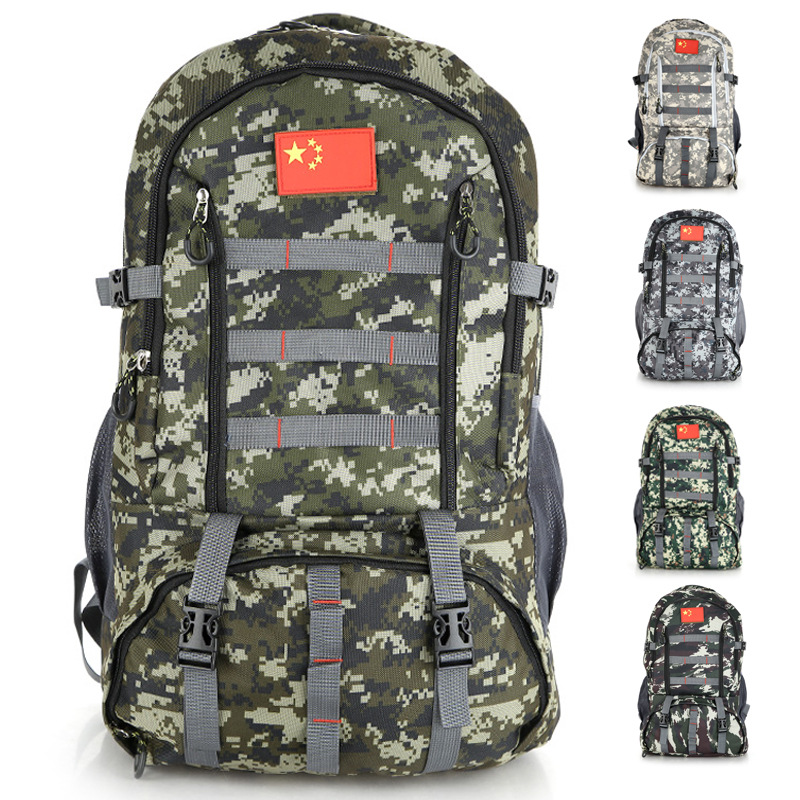 Outdoor 70L Large Capacity Mountaineering Backpack Camping Hiking Military Molle Camo Tactical Bag Adjustable large capacity outdoor camping travel climbing hiking tactical military molle assault sport backpack molle bag suspension design
