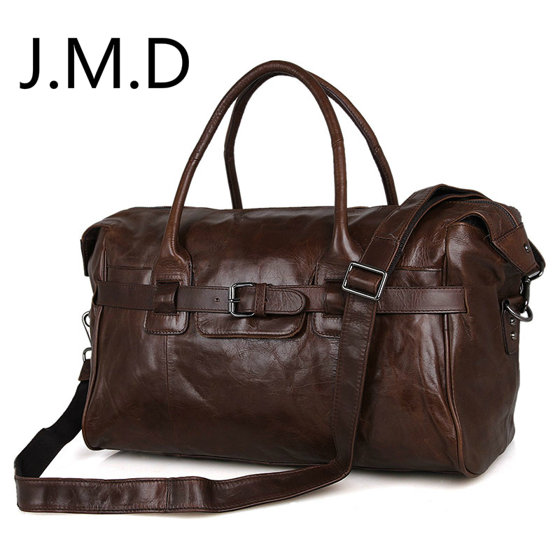 J.M.D Luggage-Bag Genuine-Leather Handbags 7079 New-Arrival 100%Excellent