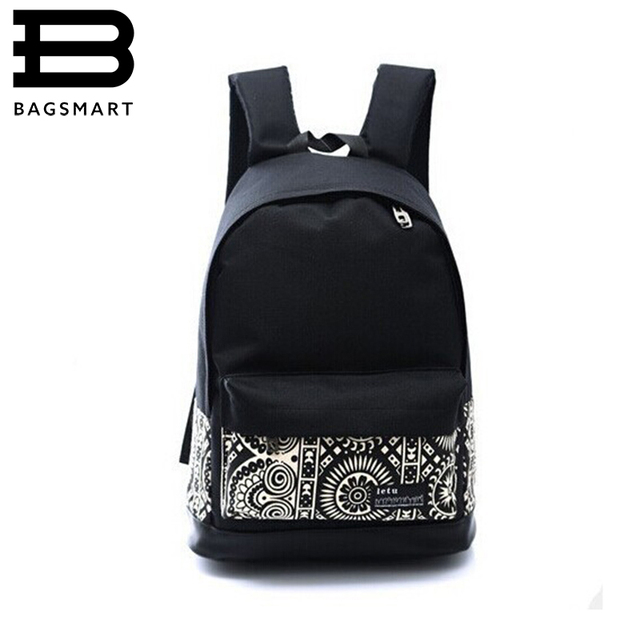 BAGSMART New 2016 Casual Canvas Backpack Women Fashion School Bags Printing Backpack School Shoulder Bags Mochila