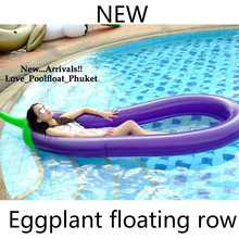 250CM Beach Mat 100inches Inflatable Giant Eggplant Pool Float Mattress Water Party Toys Sunbathe Bed Swimming Ring Circle New 250x100cm pvc inflatable mat giant eggplant lounge float bed raft swimming pool toy