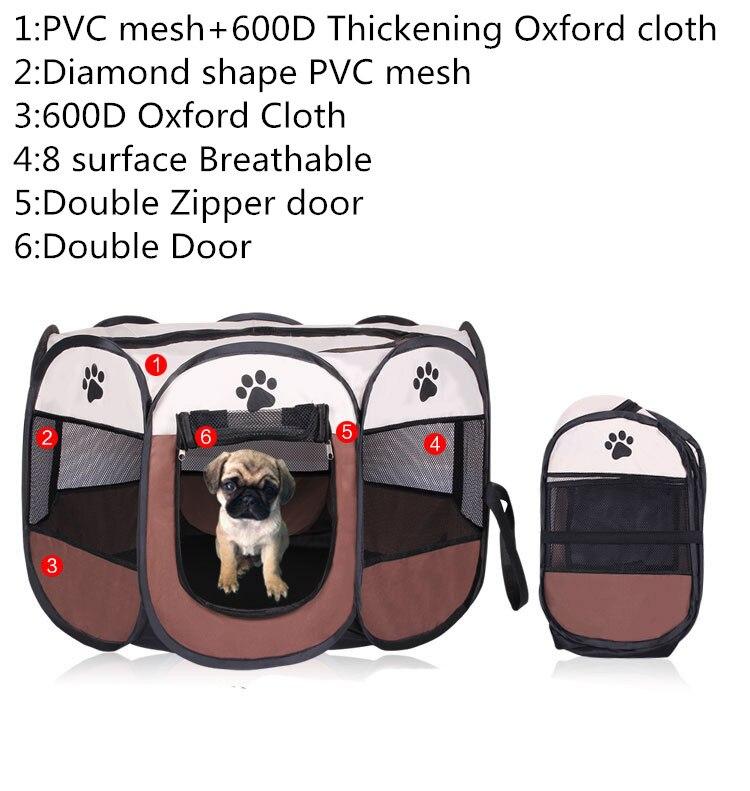 3 couleurs Portable pliant Pet tente parc chien clôture chiot chenil opération facile pliage exercice jouer dans la maison ou en plein air
