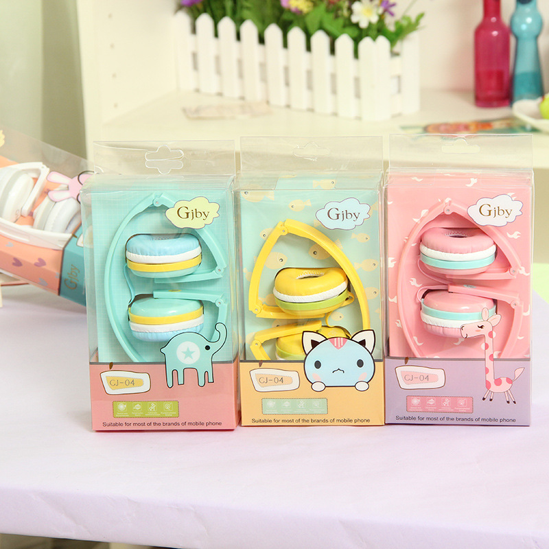 HOT Birthday Gifts Cute Headphones Candy Color Foldable Kids Headset Earphone for Mp3 Smartphone Girl Children Xiaomi PC Laptop