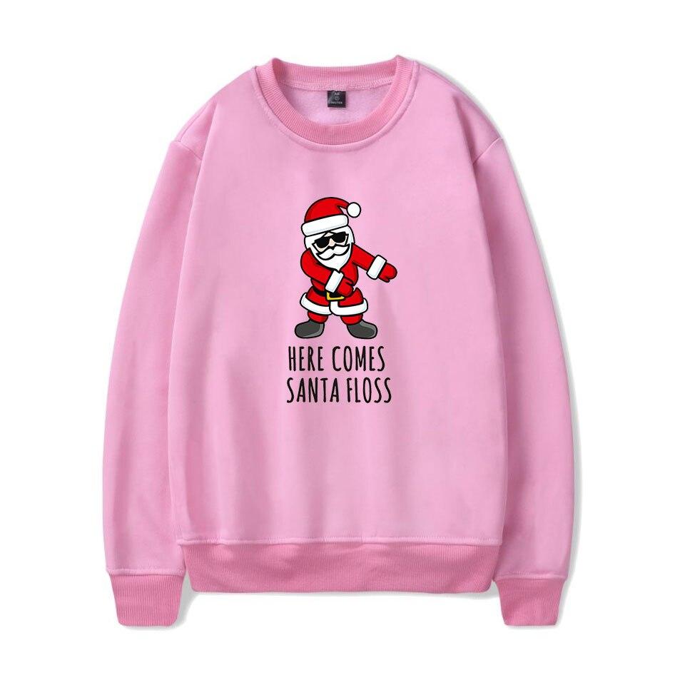 Christmas Printed O-Neck Sweatshirts Women/Men Fashion Long Sleeve Casual Sweatshirts Trendy  Clothes