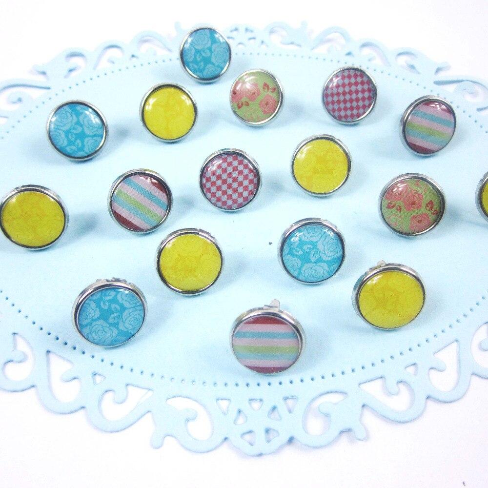 100 unids/lote mini lindo epoxi brads dia 12mm scrapbooking/regalo/manualidades adornos decorativos