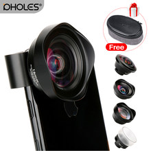 4 in 1 Cell Phone Camera Lens Kit Wide Angle Telephoto lens Macro Fisheye Lenses for iPhone Xs Max X 8 Huawei P20 Pro Samsung(China)