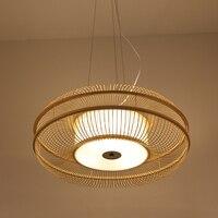 Ручной ткацкий Классический Китай/Japanest подвесной светильник Bamboo светильники промышленных Декор Hanglamp для Чай номер дома исследование
