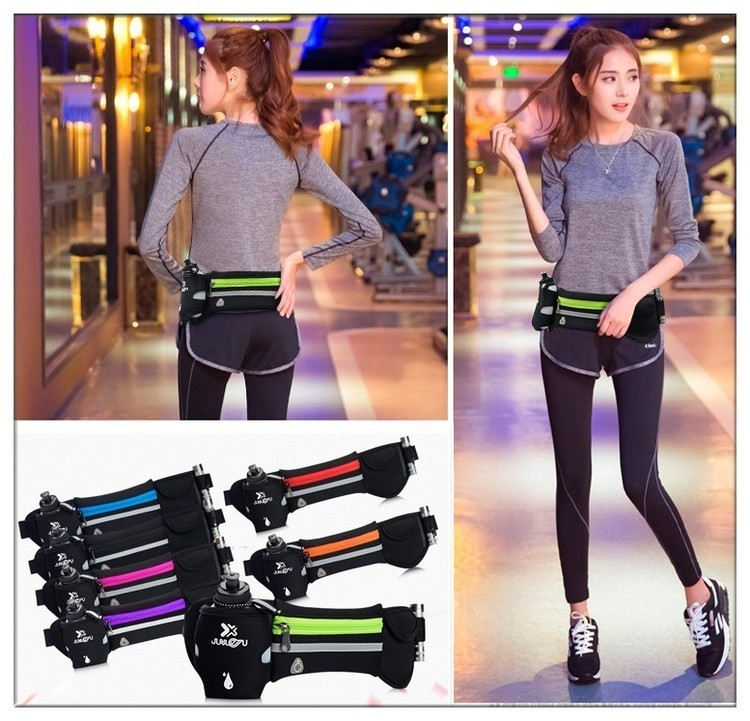 Outdoor Women&Men Hydration Belt For Trail Running Hip Waist Pack Gym Fitness Jogging Waist Bag Water Bottle Sport Accessories 9