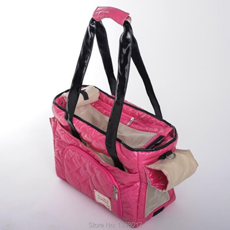 Portable Pet Carrier Bag For Carrying Dog Cat Small Animals Travel Carry Hand Bag Nylon Dog Slings Pink Orange Brown #3