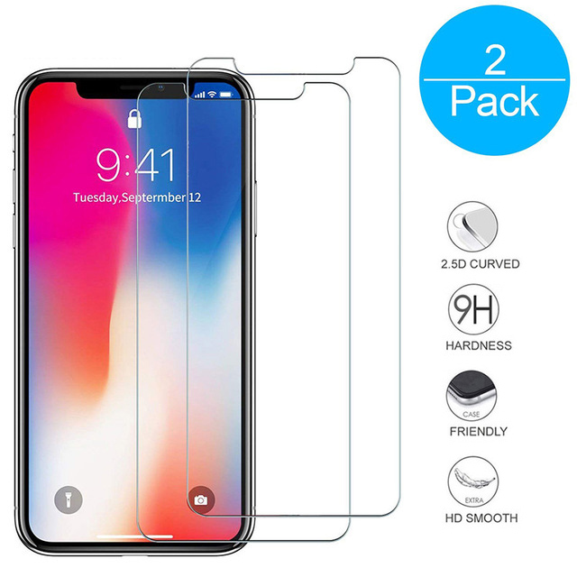 2PCS/Lot Film Tempered Glass Screen Protector en Verre trempe <font><b>ecran</b></font> protecteur For <font><b>iPhone</b></font> X 6 <font><b>6S</b></font> 7 8 Plus SE 5S 5C 4 4S 2pieces image