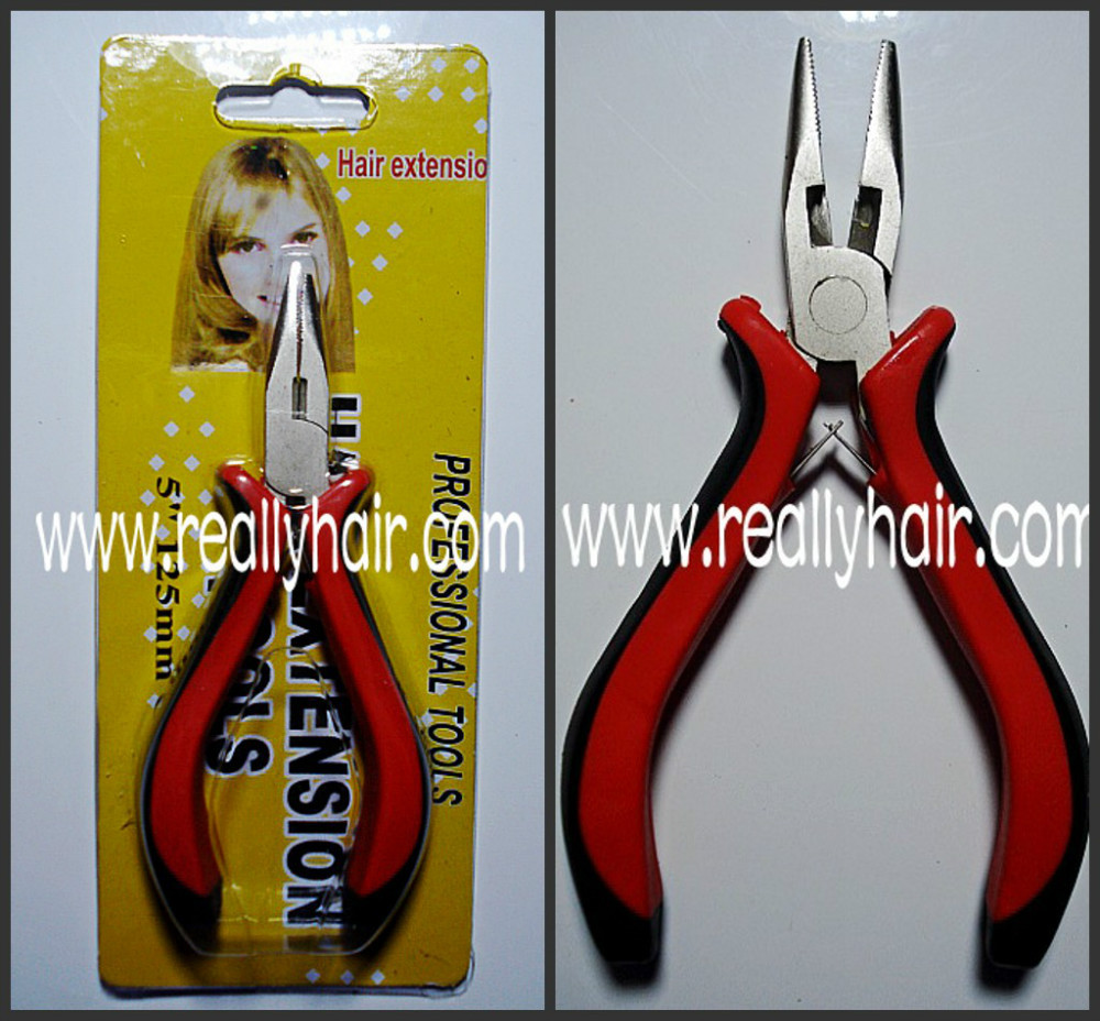 Hair extension tongers black shank hair extension plier wig hair extension tongers ...