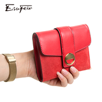 NEW Genuine leather Women Wallet Leather Short Wallets Purse Luxury Brand Ladies Cards Holder Clutch Small Women Standard Wallet