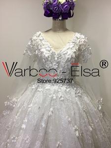 Image 5 - VARBOO_ELSA Ball Gown ภาษาสวีดิชคำ 3D ดอกไม้หรูหรา Applique ลูกปัดเพชรลูกไม้ชุดเจ้าสาวชุดแต่งงาน 2018 สีขาว gowns แต่งงาน