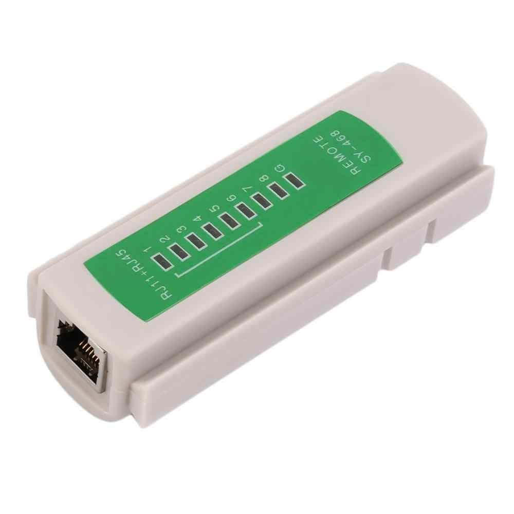 プロ RJ45 RJ11 RJ12 CAT5 UTP ネットワーク LAN USB ケーブルテスター検出リモートテストツールネットワークツール