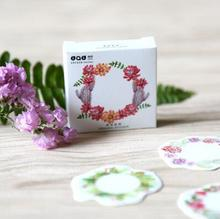45 pcs/pack The Blooming Flower Ring Decorative Stickers Adhesive Stickers DIY Decoration Craft Scrapbooking Stickers