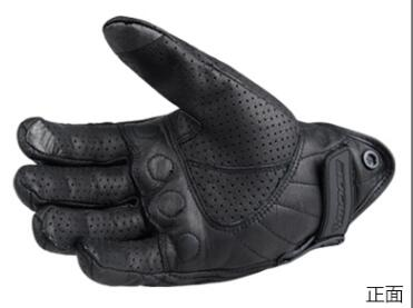Image 3 - Retro Pursuit Perforated Real Leather Motorcycle Gloves Moto Waterproof Gloves Motorcycle Protective Gears Motocross Gloves gift-in Gloves from Automobiles & Motorcycles
