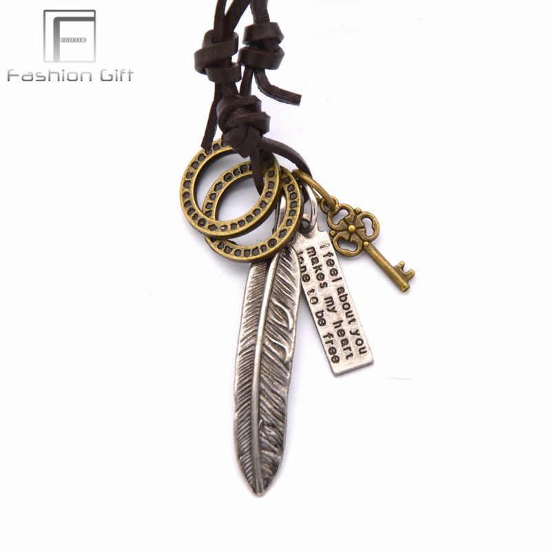 Thai Silber Farbe Kreuz Tourette Halskette Vintage Kreuz Halsband Leder Colar Masculino Schmuck