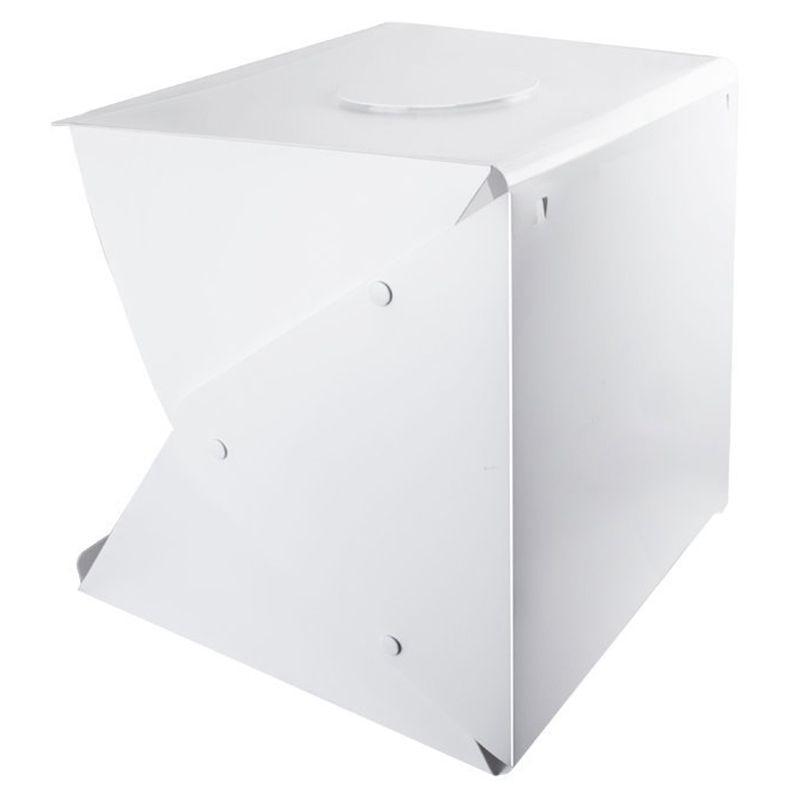 Portable Photo Studio Tente Tir, 16 pouce Petit Pliable LED Boîte à Lumière Softbox Kit avec 4 Couleurs Décors pour La Photographie,