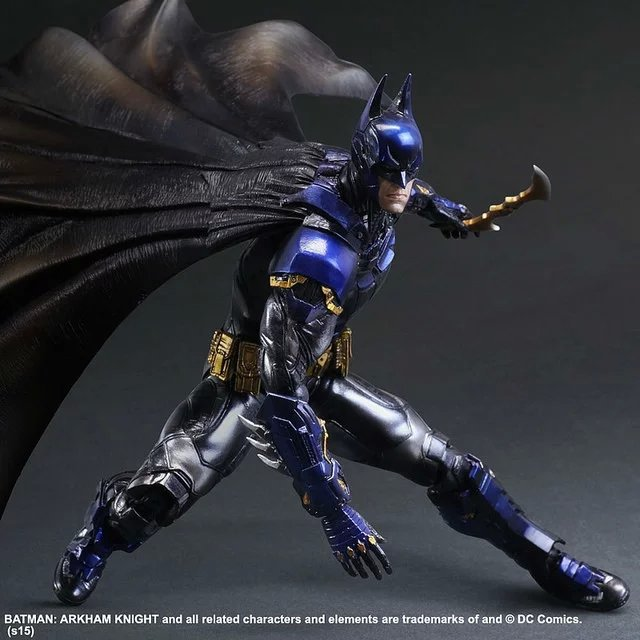 MODEL FANS Batman Movie Play Art PA Kai Arkham Knight Blue Limited Ver. PVC Action Figure Toy 28cm Model Statue playarts kai batman arkham knight batman blue limited ver superhero pvc action figure collectible model boy s favorite toy 28cm