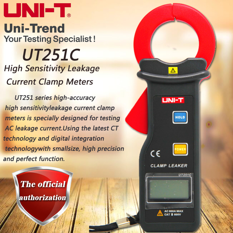 UNI T UT251C High Precision Clamp Leakage Meter 600A Leak Ammeter Data Storage RS 232 Transmission