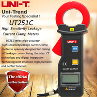 UNI T UT251C High Precision Clamp Leakage Meter 600A Leak Ammeter Data Storage RS 232 Transmission Auto Power Off