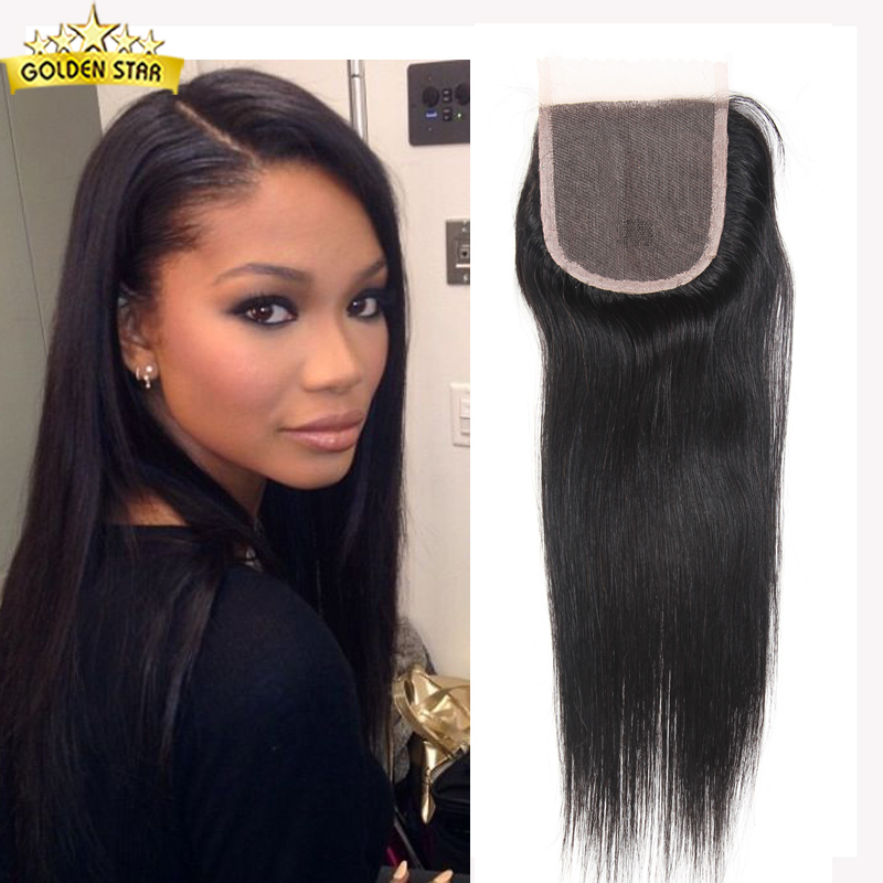 7a virgin brazilian straight lace closure brazillian hair