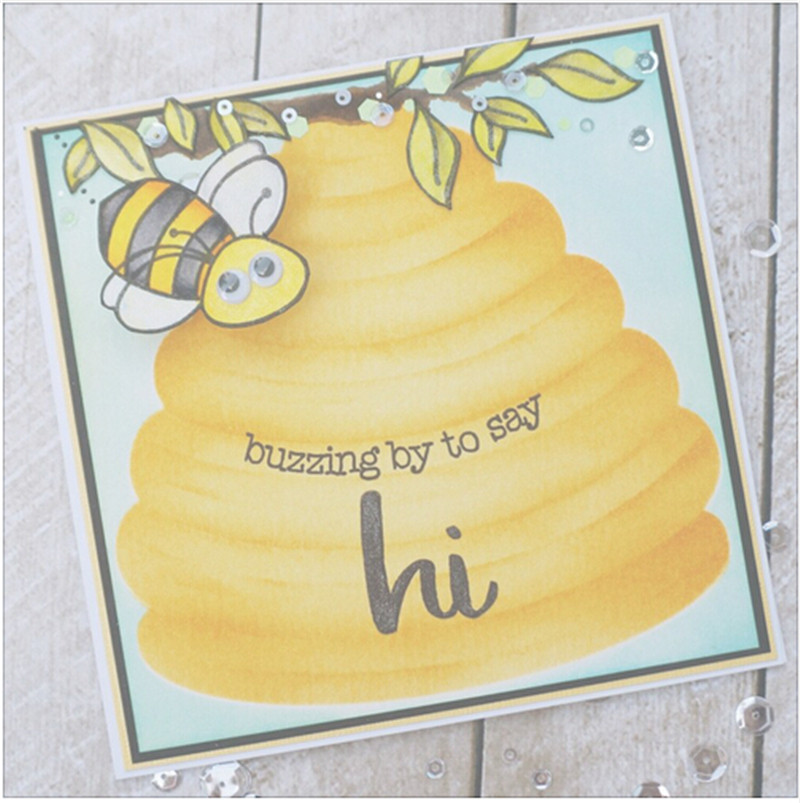 Cut Price 4pcs/Set Bee Hive Stencils and Mask for DIY Scrapbooking