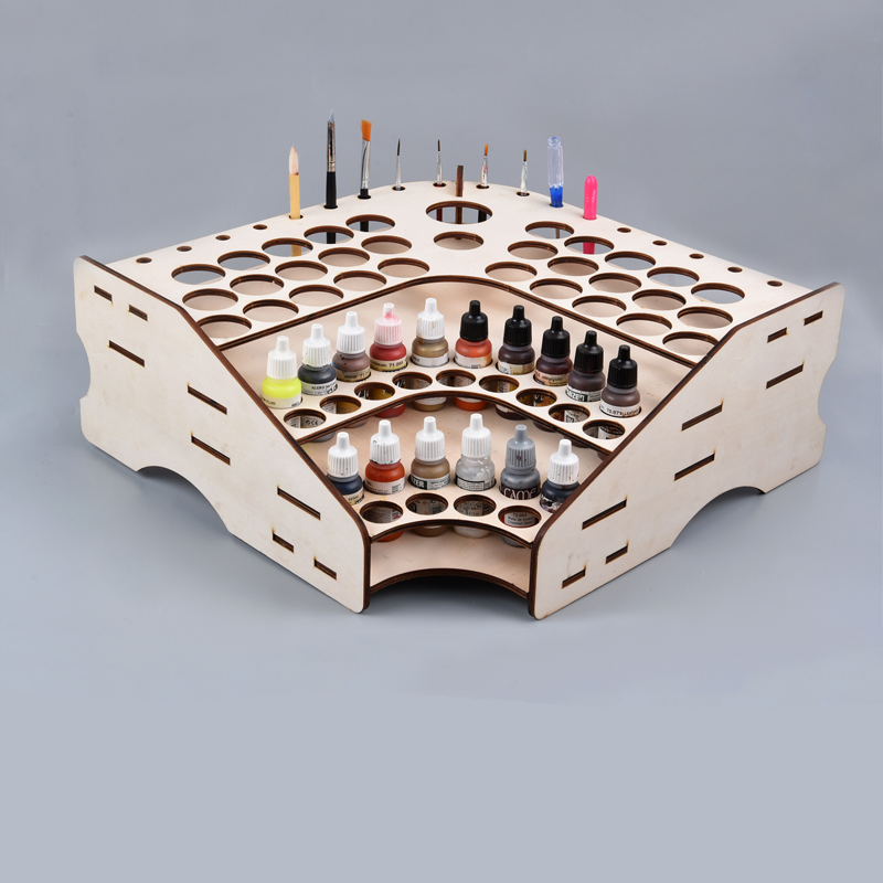 3d Pigment tool storage rack puzzle jigsaw Toy Building Game baby toys for children gifts diy toy accessories/technology model