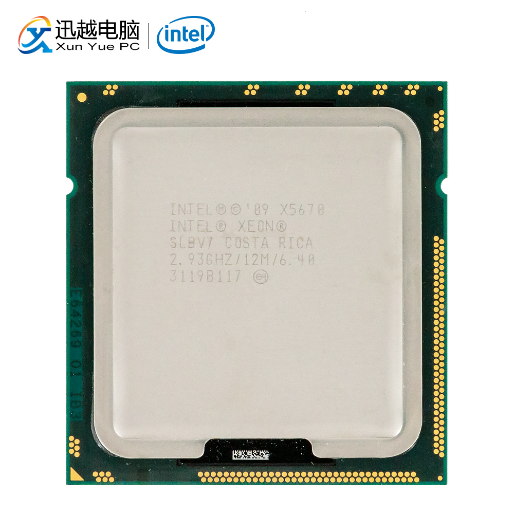 <font><b>Intel</b></font> Xeon <font><b>X5670</b></font> Desktop Processor Six-Core 2.93GHz SLBV7 L3 Cache 12MB LGA 1366 SLBV7 5670 Server Used CPU image
