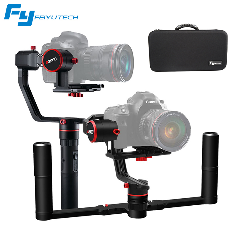 FeiyuTech a2000 Cameras Stabilizer for Mirrorless DSLR Dual Handheld timelapse for Canon SONY Panasonic 2000g VS Crane 2 цена