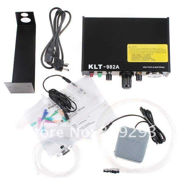 220V Auto Glue Dispenser Solder Paste fluxes Controller Dispensing Dropper KLT 982A for SMD PCB klt 982a solder paste glue dropper liquid auto dispenser controller black