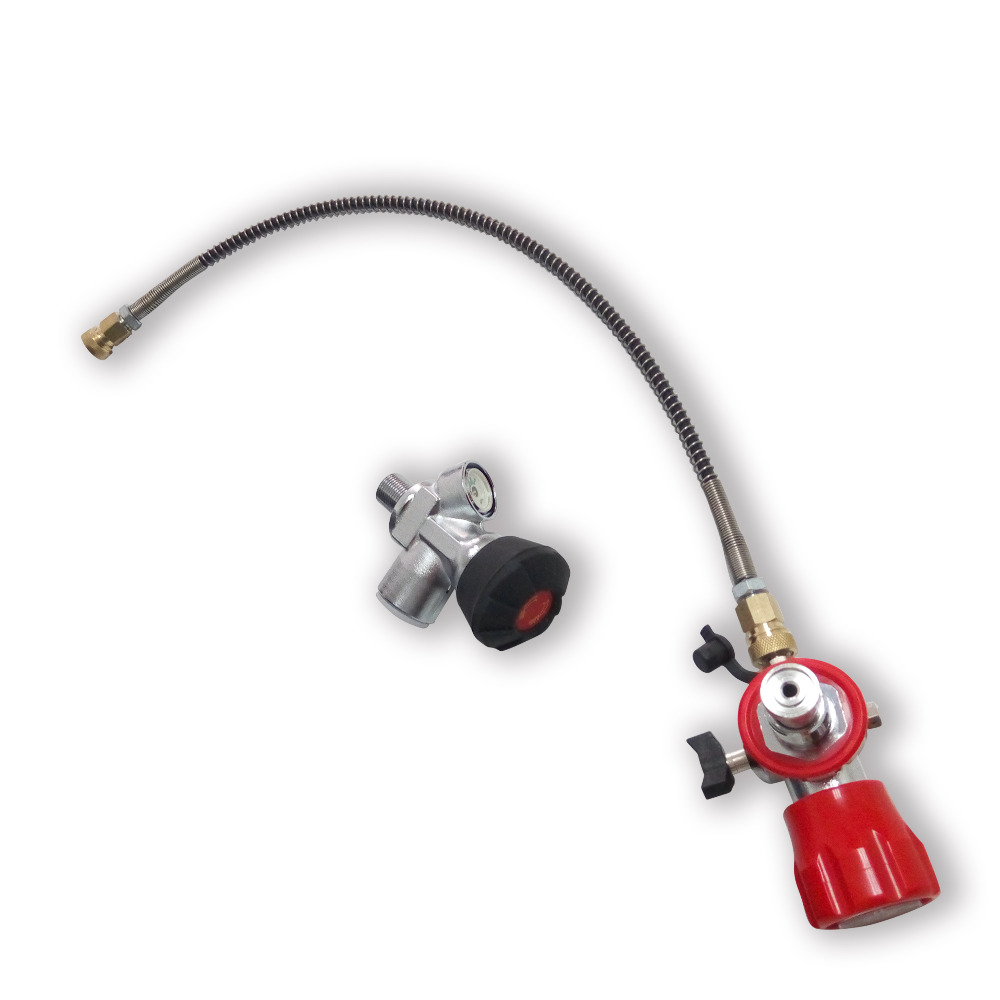 AC301 High Pressure Carbon Fiber Cylinder Valve With Gauge + Filling Station With Hose Drop Shipping Acecare