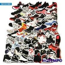 60 uds, zapatillas de baloncesto Retro, pegatinas de zapatos de marea Vintage para teléfono móvil, portátil, equipaje, funda, Skateboard, pegatina de estilo de bicicleta