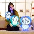Новое Прибытие 25 см/35 см/45 см Большой Doraemon Плюшевые Куклы Игрушки с Свет Doraemon Световой плюшевые Игрушки Светятся в Темноте Подарок На День Рождения