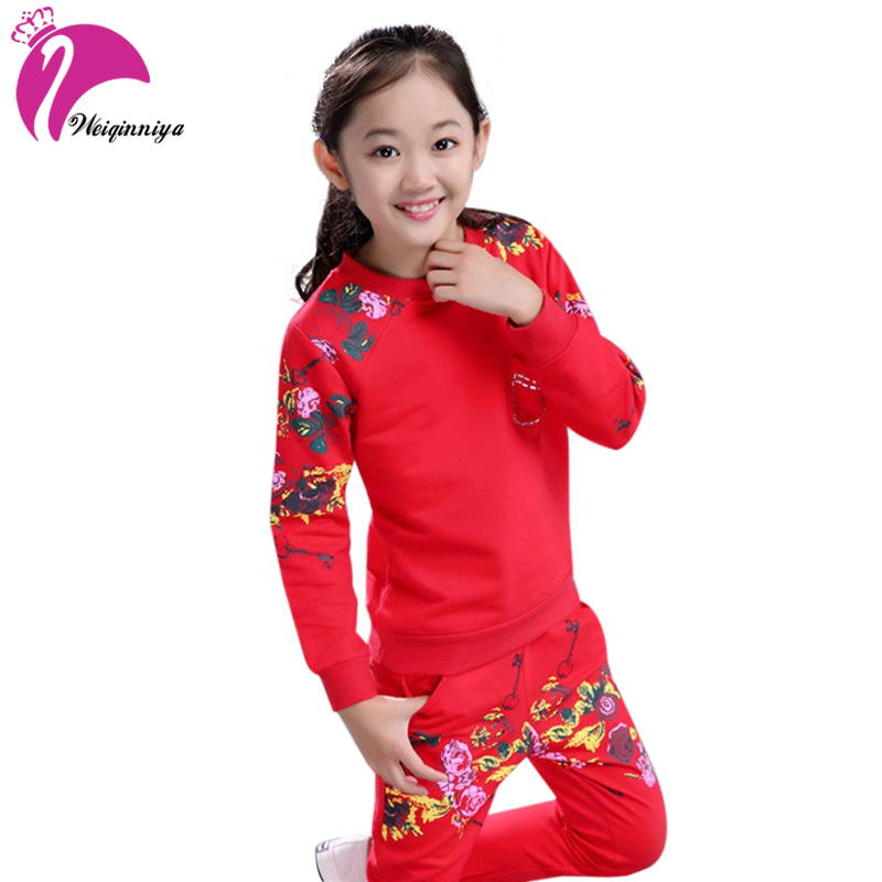 Girl Tracksuits Costume Sports Suit For Girls Autumn Cotton Long Sleeves Girls Tracksuit Toddler Clothes Clothing Sets For Girls 2017 new boys clothing set camouflage 3 9t boy sports suits kids clothes suit cotton boys tracksuit teenage costume long sleeve