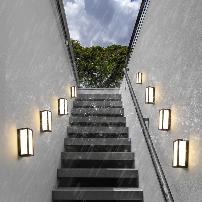 Outdoor Porch Lights Vintage Balcony Waterproof Wall Lamp Modern Outdoor Lamp Staircase Lamps Hotel Led Outdoor Wall Light modern outdoor lighting led waterproof wall lamp patio lamp ip65 outdoor led lamp up down light outdoor wall light porch lights