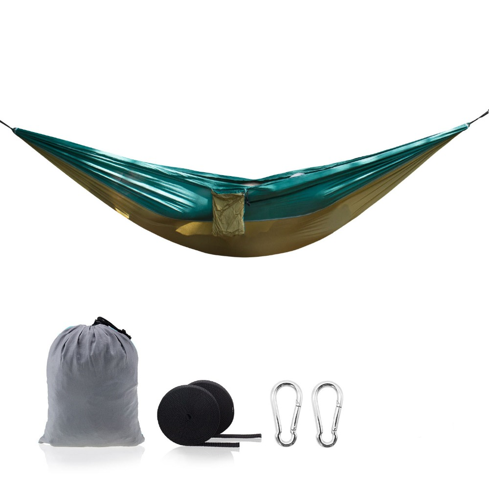 Camping & Hiking Portable Ultralight Parachute Hammock Outdoor Camping Hunting Double Person Mosquito Net Hanging Bed Furniture Sleeping Hammock Highly Polished Sports & Entertainment