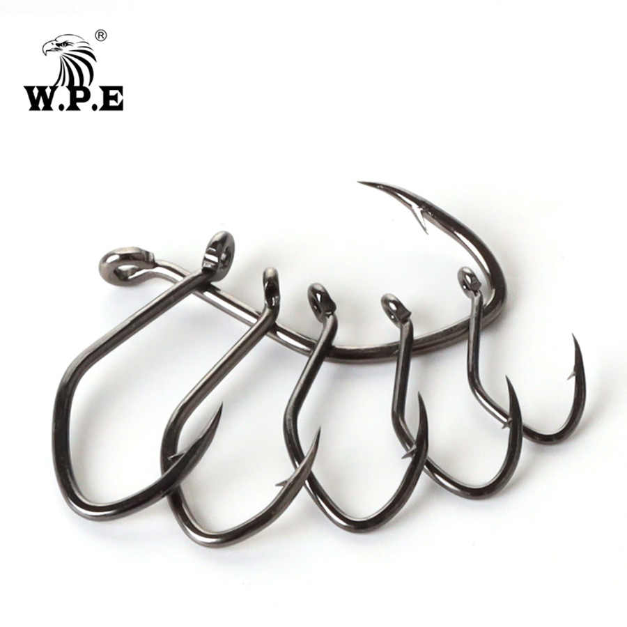 W.p.e Merek Lele Hook 5-10 Pcs/pack Tinggi Karbon Steel Memancing Hook 2 #-12 # Sangat tajam Hook Berduri Ikan Lele Hook Fishing Tackle