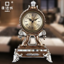 christmas European clock Retro Clock creative decoration  living room resin placement mechanical