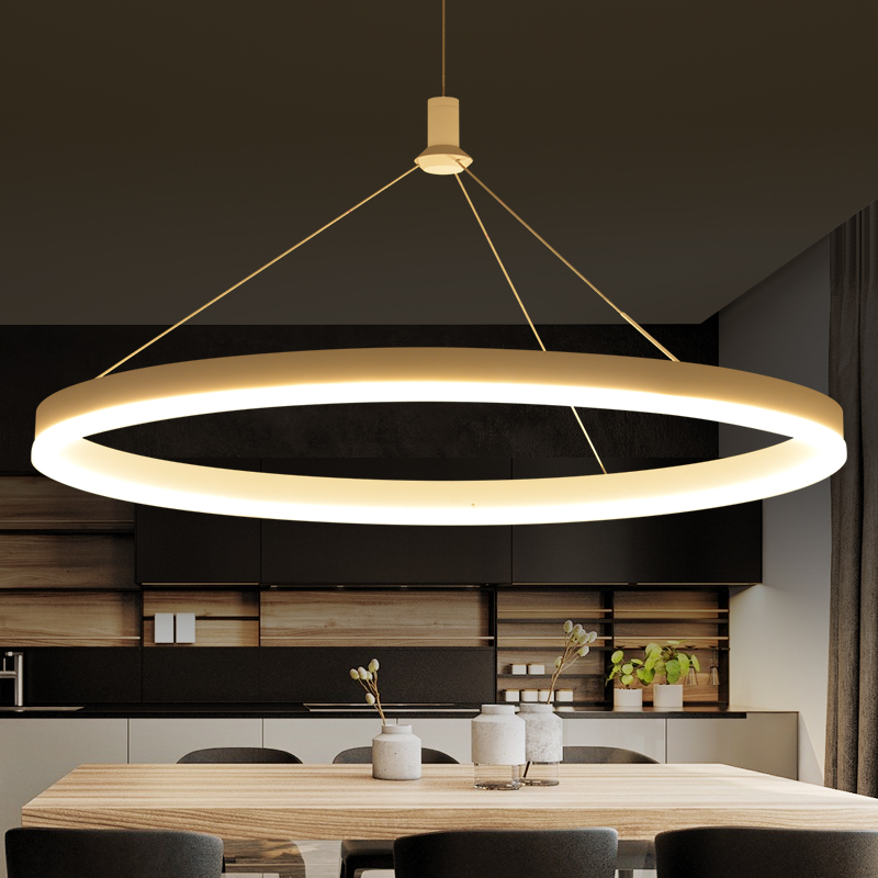 NEO Gleam Ideal Circels Pendant Chandelier For Dining Kitchen Room suspension luminaire led avize Hanging Modern Chandelier Lamp neo gleam minimalist modern led pendant lights for dining room kitchen room hanging hanglampen suspension pendant lamp fixture