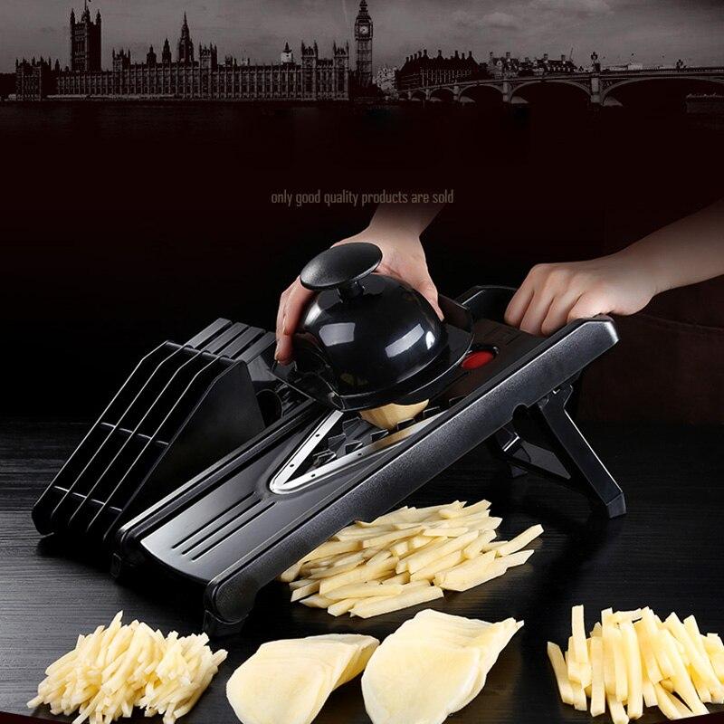 1 PC coupe frites frites noir Chips éplucheur légumes coupe fruits déchiqueteuse trancheuse poignée Gadget cuisine outil