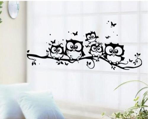 Super Deal Cartoon Decals Wall Art Diy Children Sticker Kids Vinyl Art  Cartoon Owl Butterfly Wall Part 49