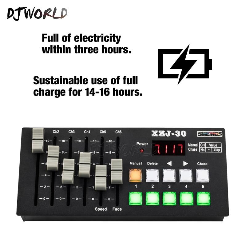 Wireless Charging DMX Console30 Stage Control Equipment Good For DJ Disco Nightclub Bar Controller DMX512 Stage Effect Lighting