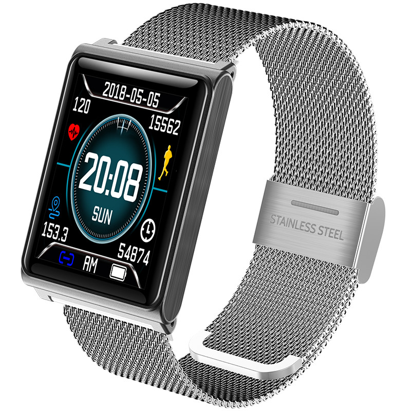 Fitness hommes montre intelligente N98 mode acier maille bande IP67 étanche appel Bluetooth entreprise horloge sport montre intelligente hommes femmes